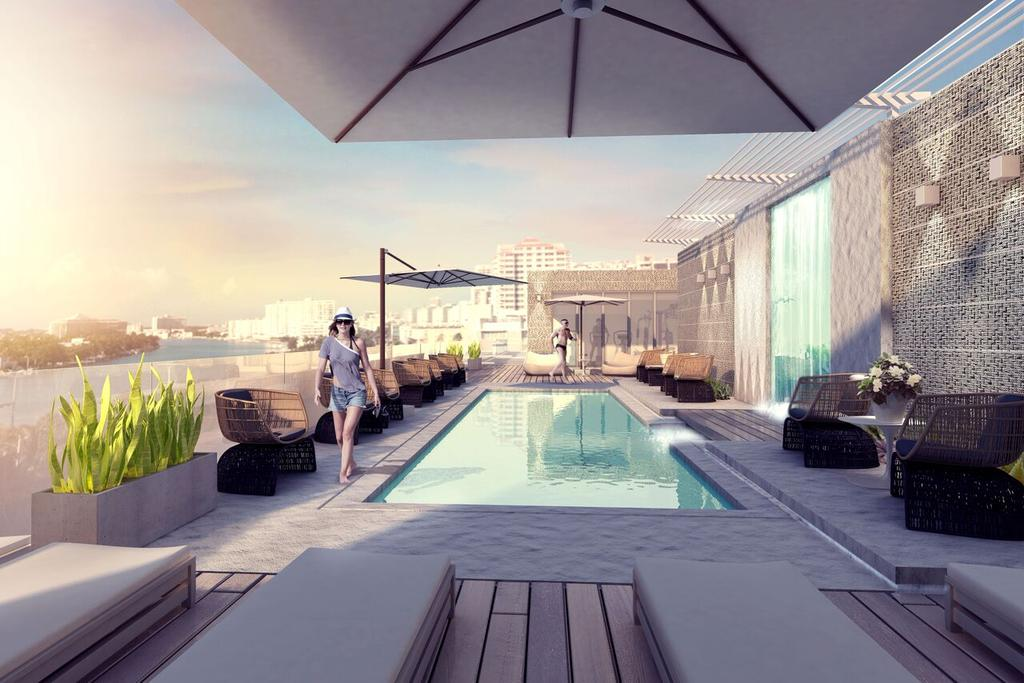 The pool at 6080 Collins Avenue Beach House.
