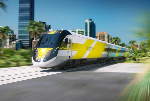 The Brightline will travel as fast as 125 miles per hour.