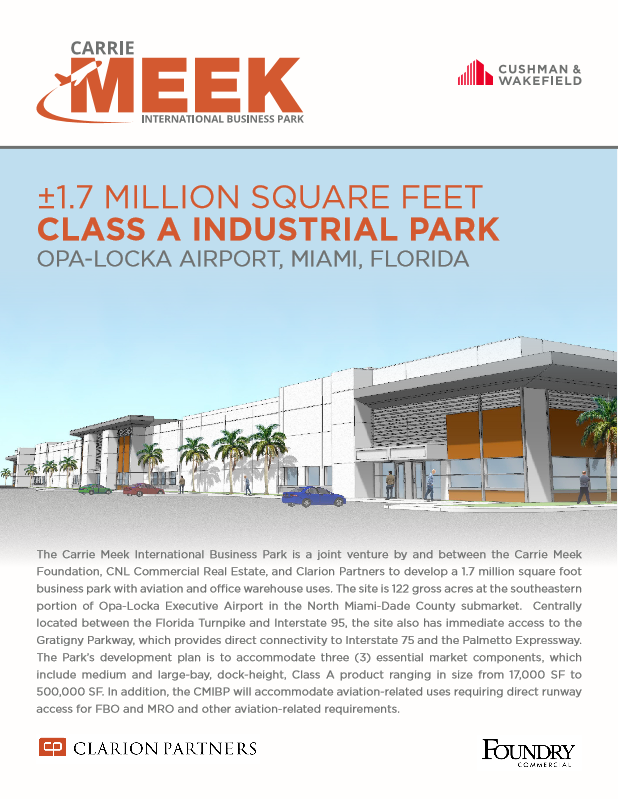 A brochure advertises that there will be 1.7 million square feet:
